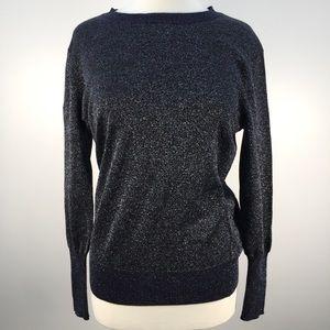 NWT J. Crew Navy Blue Shimmery Long Sleeve Sweater